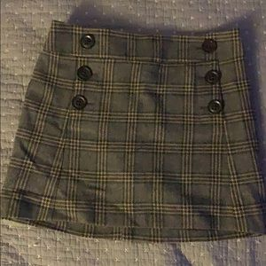 Gap wool plaid mini skirt size 0